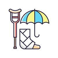 funktionshinder försäkring rgb färgikon