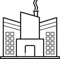 linje ikon för fabrik