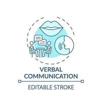 verbale Kommunikation türkisfarbenes Konzeptikone