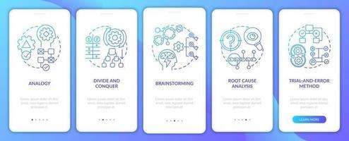 problemlösning strategier marin ombord mobil app sida skärm med koncept