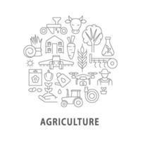 abstraktes lineares Konzeptlayout der Landwirtschaft mit Überschrift