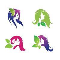 skönhet hår och salong logotyp