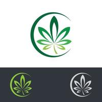 Cannabis Logo Bilder Illustration vektor
