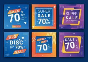 kreative Vektor Premium Sale Feed Promotion Vorlage Sammlung. Web-Bannerwerbung für Social-Media-Post, Design für Anzeigen, Vorlage für Modeverkauf, Ausverkauf. Vektorillustration