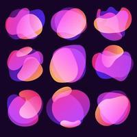 abstrakte Unschärfe freie Form Formen Farbverlauf schillernde Farben bewirken weichen Übergang, Vektor-Illustration eps10 vektor