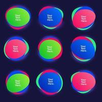 abstrakt oskärpa fri form former färggradient iriserande färger effekt mjuk övergång, vektorillustration eps10 vektor