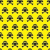 nahtlose Hintergrundmusterschädel. Gefahrenwarnung Wallpaper. Vektor veranschaulichen.
