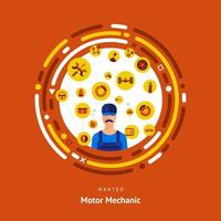 Motormechaniker Mann vektor