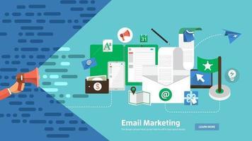Banner digitales Marketing vektor