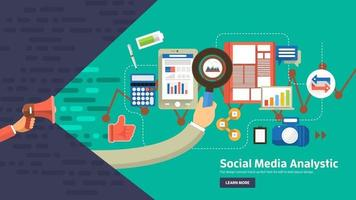 banner digital marknadsföring vektor