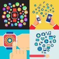 smartwatch illustrationer koncept vektor