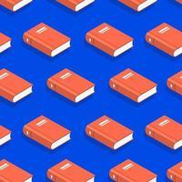 flache Design-Konzeptbücher des nahtlosen Hintergrundmusters. Vektor veranschaulichen.