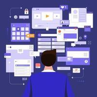 verktyg för socila mediaövervakning vektor