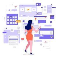 Socila Media Monitor Tools vektor