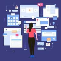 Social-Media-Monitor-Tools vektor