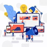 Teamwork kreative Werbung vektor
