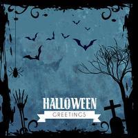 gruseliger Halloween-Entwurf vektor