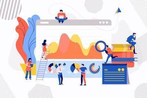 teamwork affärsanalys vektor