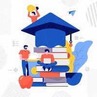 Teamwork-Studie E-Learning vektor