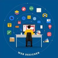 Webdesigner und Programmierer vektor