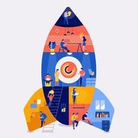 Startup-Unternehmen für Arbeitsräume vektor