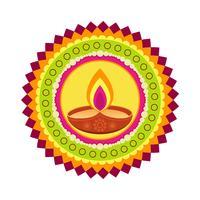 buntes glückliches Diwali vektor
