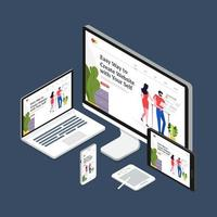 Webdesign-Konzept vektor