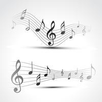 vektor musik notering