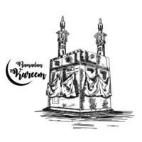 ramadan mubarak islamisk festival firande gratulationskort vektor