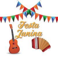 Festa Junina Vektor-Illustration und Hintergrund