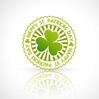 saint patricks dagstämpel etikett vektor