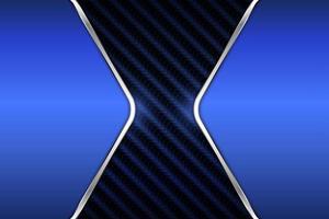 lyx metallisk blå banner bakgrund vektor
