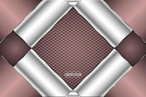 metallischer dunkelrosa Bannerhintergrund vektor