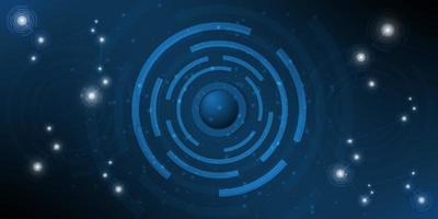 digitaler Hi-Tech mit Kreis- und Partikeldesign. vektor