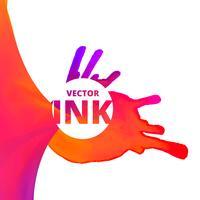 Vektor-Fluss von Tinte Hintergrunddesign vektor