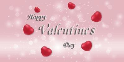 lycklig alla hjärtans dag gratulationskort bakgrund.