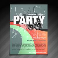 Party Broschüre Design vektor