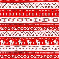 Pullover Frohe Weihnachten Strickverzierung mit Kühen. Vektorillustration gestrickter Hintergrund nahtloses Muster skandinavische Verzierung blaue Farben. rot-weiß gestrickt. vektor