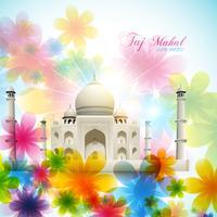 Vektor-Taj Mahal vektor