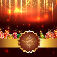 Attraktiver Hintergrund von Diwali vektor