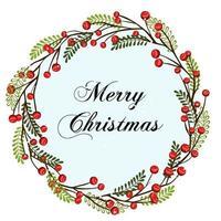 Weihnachtskranz. Urlaub nahtlose Dekoration. Illustration für Postkarten, Grüße, Karten, Logo. vektor