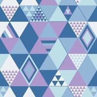 abstraktes nahtloses Muster. lila Rauten auf geometrischem Entwurf des blauen Hintergrunds. Vektorillustration. vektor