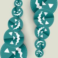 blauer Halloween-Entwurf vektor