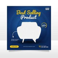 kreative Möbel Verkauf Banner oder Social Media Post Vorlage vektor