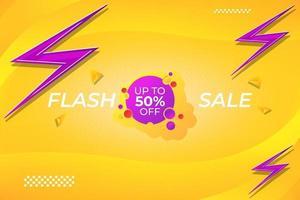 Flash-Verkaufsförderung Hintergrundvorlage Design. vektor