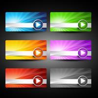 Vektor glänzendes Web-Element