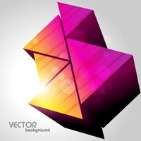 färgglada trianglar design vektor
