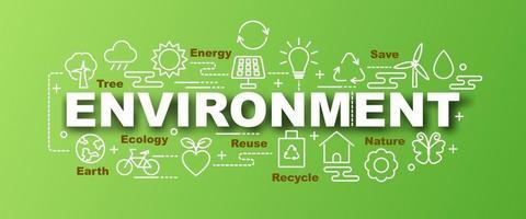 Umweltvektor trendiges Banner vektor