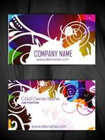 blommig stil visitkortdesign vektor