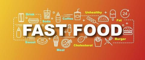 Fast-Food-Vektor trendige Banner vektor